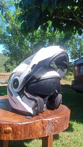 Capacete Norisk 370 escamoteável branco - Foto 2
