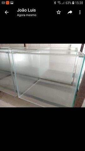 Aquário 50x50x45 vidro de 5mm -112 litros - Foto 4