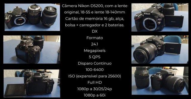 Câmera Nikon D5200 - Foto 4