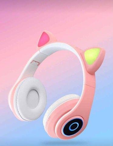 Fone de Gatinho Bluetooth -  Seu som com mais estilo! - Foto 4