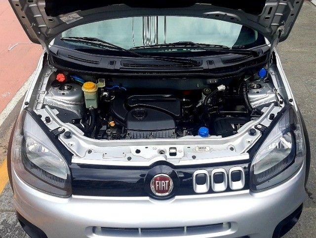 Fiat uno way motor 1.4 8v evo flex 4p prata ano 2015 raridade 36.000km ipva2021pgvist.  - Foto 5