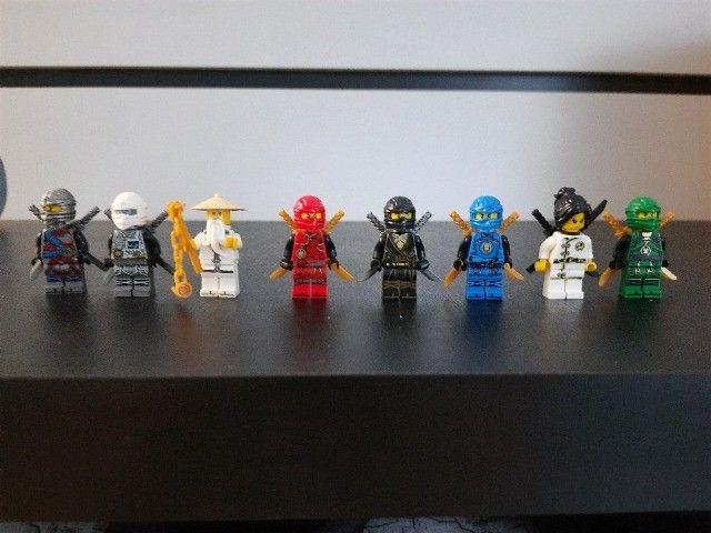 Blocos de Montar Ninjago com 8 Mini Personagens Compatíveis com Lego Novos - Foto 3
