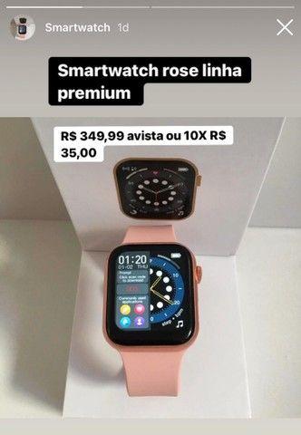 Smartwatch rose acabamento premium