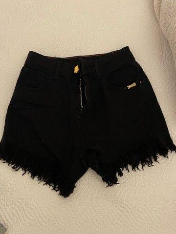 shorts preto cintura alta