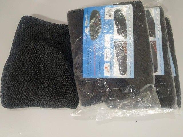 Capa para banco de moto honda e yamaha - Foto 2