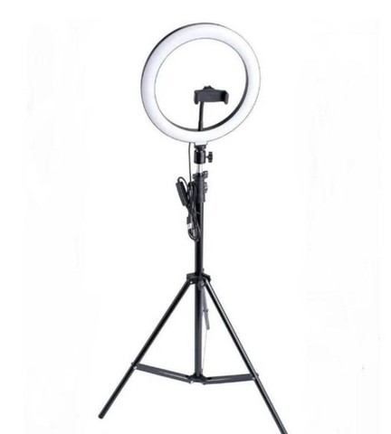 Ring Light Led Iluminador 26cm Completo 2,1m Tripé 210cm - Foto 3