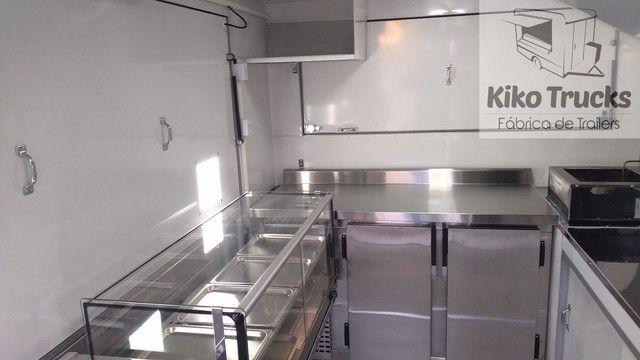 Food Trailer Salgados sob encomenda - fábrica homologada Inmetro e denatran - Foto 3
