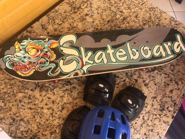 Skate 4 rodas novinho nunca usado - Foto 3