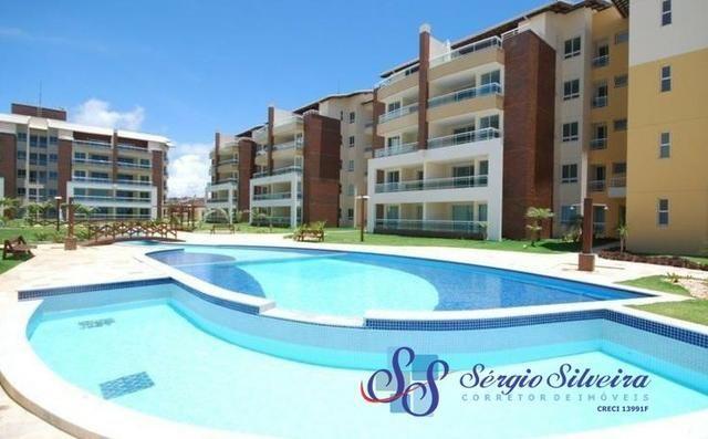 Pé na areia Apartamento no Porto das Dunas com 3 quartos Gran Sol