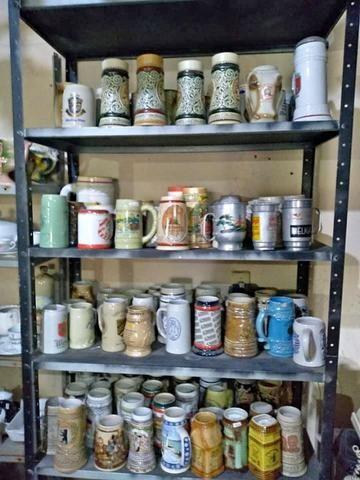 Caneca canecos de Choop Ceramarte antigas entre outros antiguidades Mercado de Pulgas