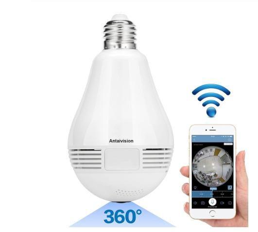 Lampada Câmera Espiã Segurança V360 Wifi Panorâmica B13