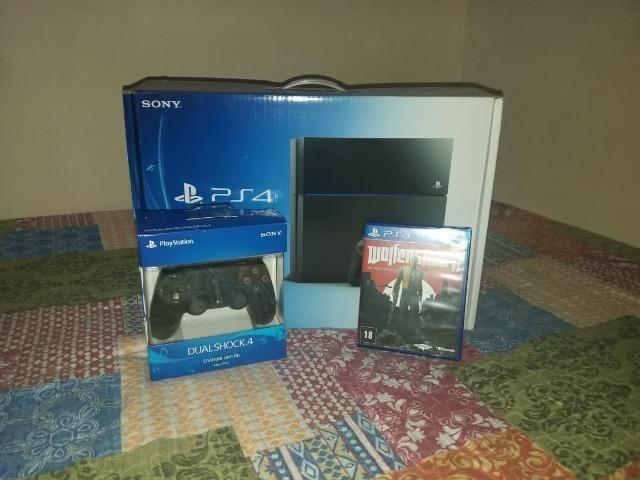 Playstation 4 impecável na caixa 2 controles