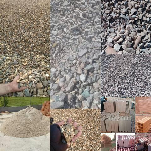 Mega Promoção Seixo Brita Pedra Rachão Areia Tijolo Padrão entrega grátis