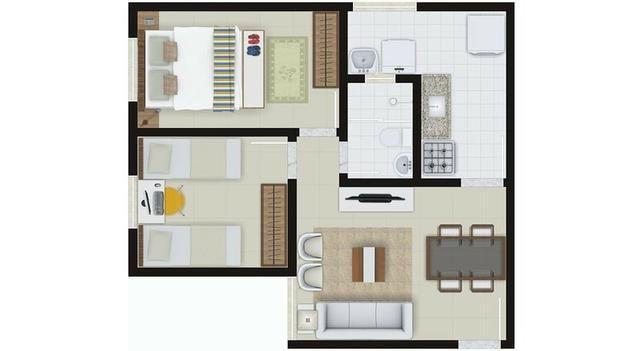 Apartamento 2/4 no Centro em Condomínio Fechado - Foto 12