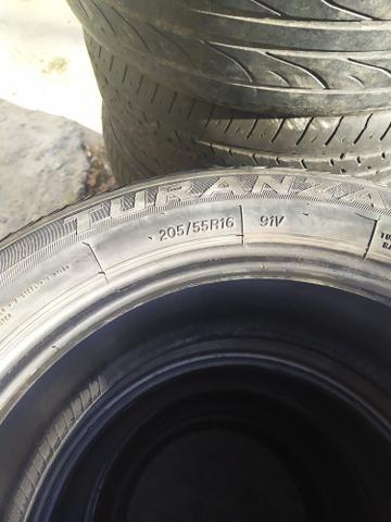 4 pneus todos iguais 16 205 55 - Foto 2