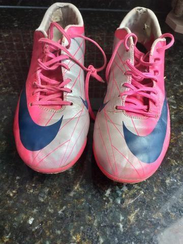 Chuteira futebol campo 38 Nike mercúrial 371a874373a5d