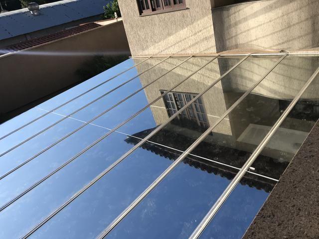 Pergolado com cobertura de vidro - Foto 2