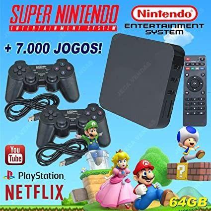 Video Game Retro Box Com Jogos Clássicos 32gb Super Barato