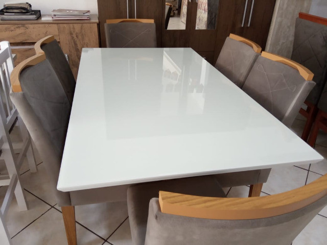 Mesa de vidro com 6 cadeiras - Foto 2