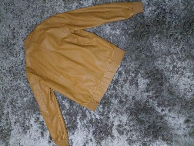 Jaqueta masculina de couro sintético marca TNG - Foto 3