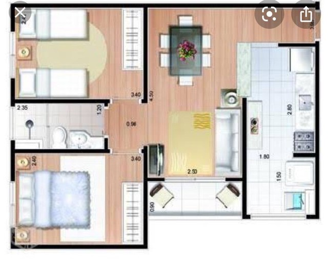 Troco apartamento por casa