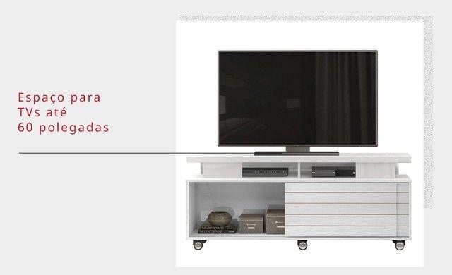 """Rack Ageo para c/ espelho TV Até 60"""" - DJ Móveis - Foto 4"""