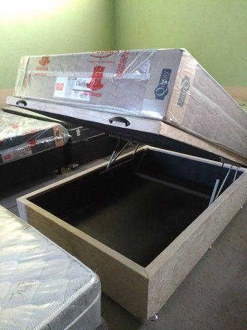 Cama baú novos reforçado box baú ,cama baú ,base baú  - Foto 3