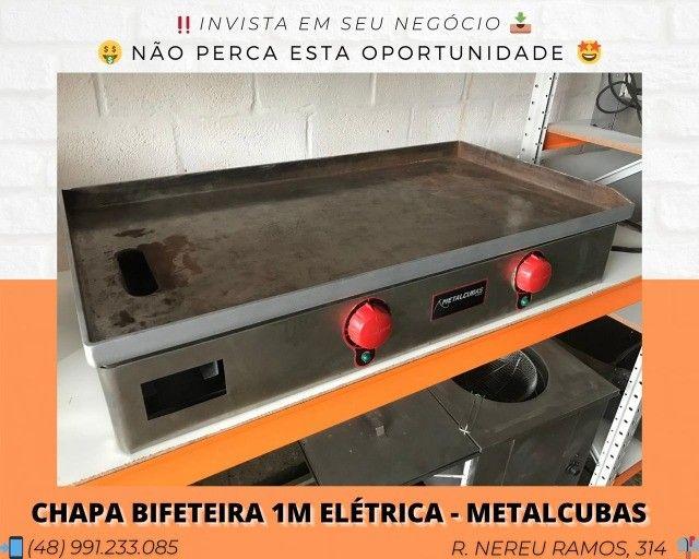Chapa bifeteira elétrica 1,00M - MetalCubas | Matheus