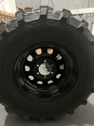 pneu rodas  para jeep willys trilha troller  - Foto 4