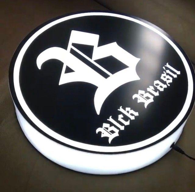 Placas de led com sua logo/arte