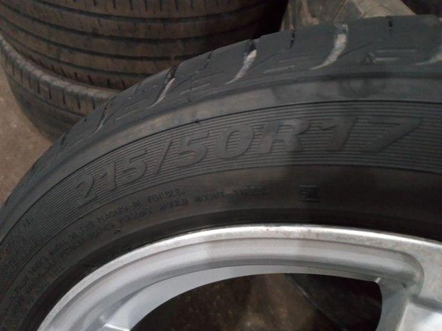 Vendo jogo de rodão.5×100 com pneus 215/50/R17 - Foto 3