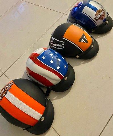 Lindos capacetes Scooter elétrica / bike elétrica / harley elétrica  - Foto 2