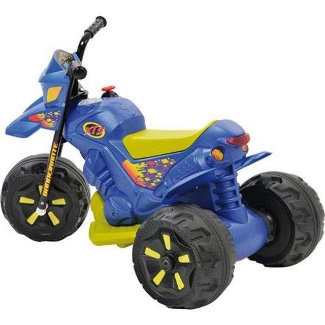 Moto Elétrica Infantil 6V XT3 Azul - Bandeirante - Foto 2