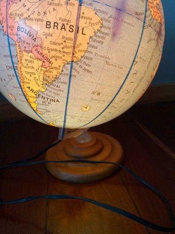 Globo mapa mundi iluminado - Foto 3