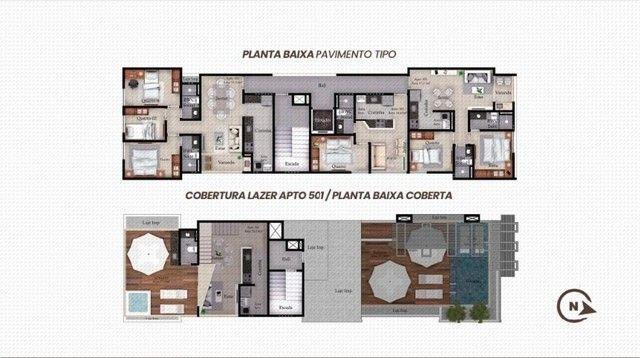 Apartamento Bancários com, 1 ou 3 Quartos com Área de Lazer na Cobertura - Em Construção! - Foto 7