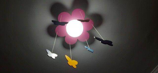 Luminária Flor e Borboletas