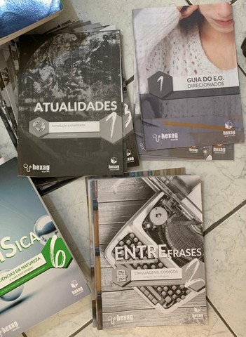Livros e apostilas cursinho Hexag medicina 2020 - Foto 4