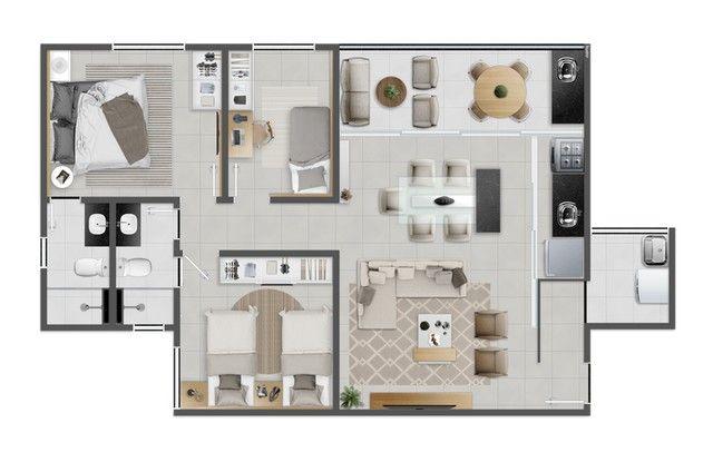 JACARANDÁ - 73m² - 3 quartos - Eusébio - CE - Foto 19