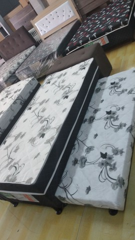 Cama box solteiro espuma com auxiliar - Novo - Foto 4