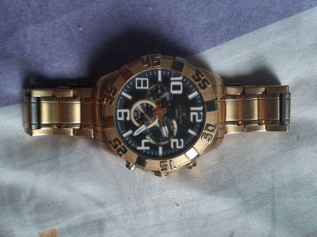 Vendo ou troco relógio TECHNOS dourado.  - Foto 4