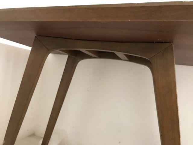 Mesa de Madeira com tampo de vidro   - Foto 3