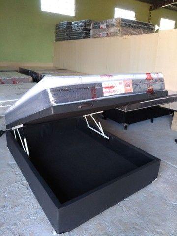 Cama baú novos reforçado box baú ,cama baú ,base baú  - Foto 4