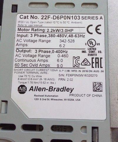 Inversor De Frequência 3cv 380v Allen Bradley 400htz - Foto 2