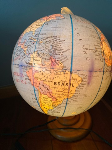 Globo mapa mundi iluminado - Foto 2