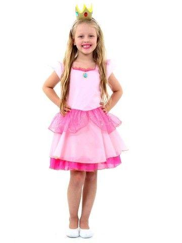 fantasia princesa peach infantil - super mario world