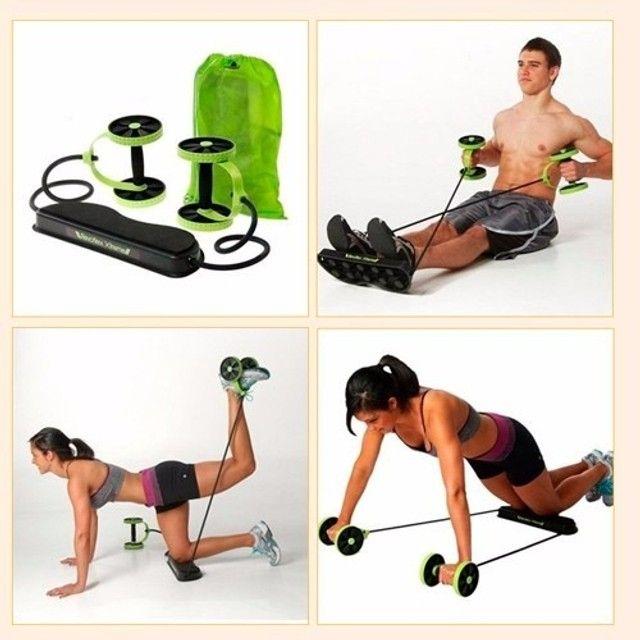Elastico Roda Exercicio Aparelho Abdominal Revoflex Xtreme Ginastica em Casa - Foto 3