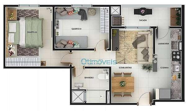 Vendo lindo apartamento no Eco Village Parque da Fonte - Foto 4