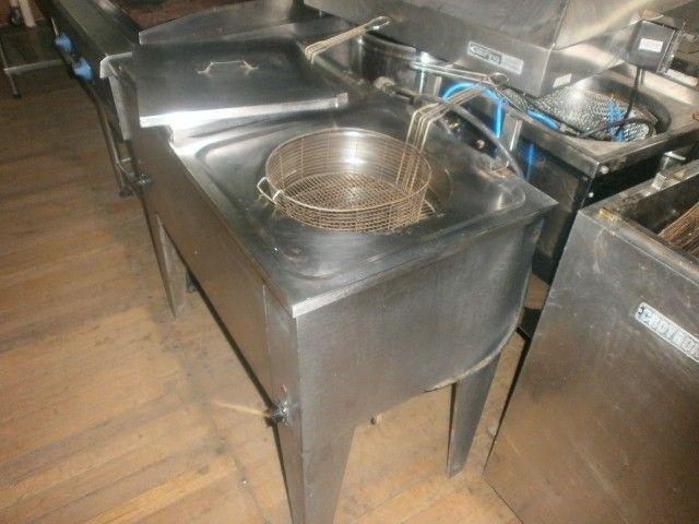 fritadeira industrial - agua e óleo - dupla - 220 volts - inox - Foto 5