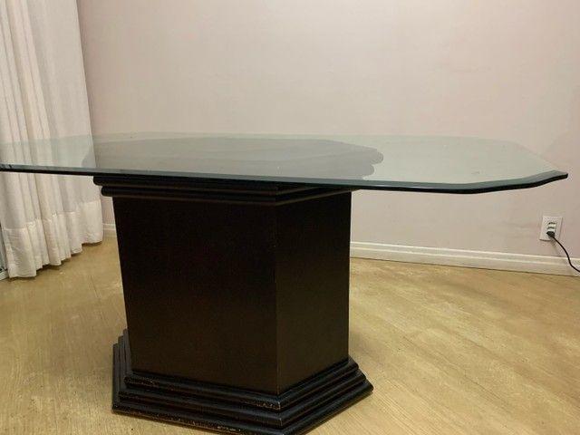 Mesa de jantar tampo de vidro retangular 1,60x1,00x0,78  - Foto 4