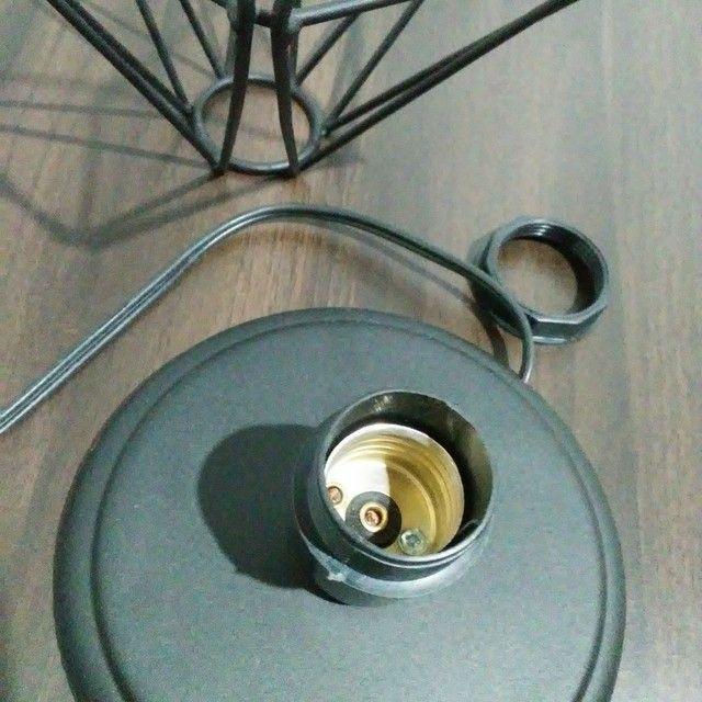 Luminária de mesa - diamante preto  - Foto 6